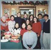 Holiday party with international students